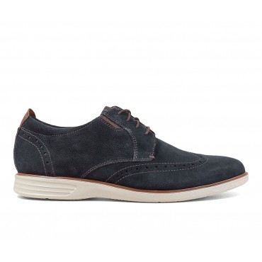 Men's Nunn Bush New Haven Wing Tip Oxford Dress Shoes Navy Going Out Express P0A8P9144