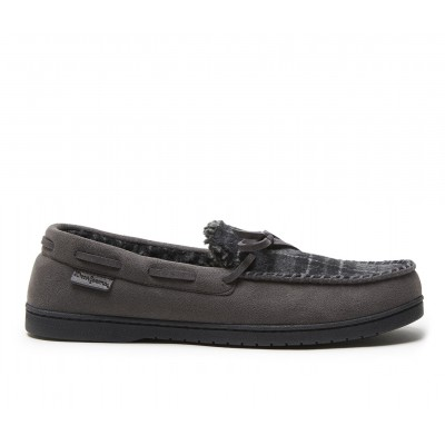 Dearfoams Toby Microsued Moccasin with Tie Slippers Pavement Going Out hot topic 4R3NO9298