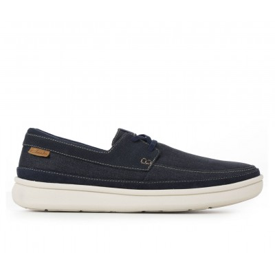Men's Clarks Cantal Lace Slip-On Shoes Navy New Arrival 3UGMR1189