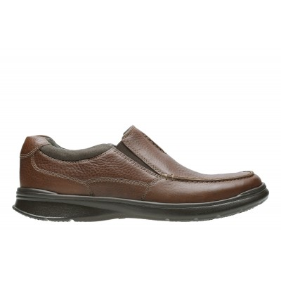 Men's Clarks Cotrell Free Slip-On Shoes Tobacco Business Casual Best 4N9DU9459