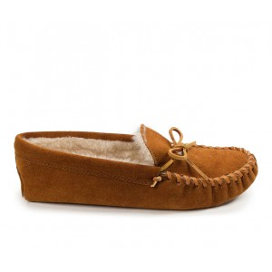 Minnetonka Pile Lined Softsole Slippers Brown Business Casual shopping 1CKBN2657
