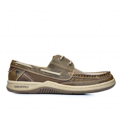 Men's Margaritaville Anchor 2 Eye Boat Shoes Brown Going Out In Store E22N68114