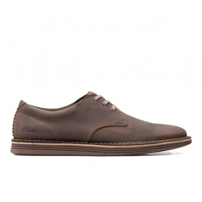 Men's Clarks Forge Vibe Dress Shoes Brown Leather Business Casual Lowest Price SWO9D6562
