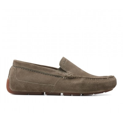 Men's Clarks Markman Plain Loafers Olive Going Out in new look 5V86T1575