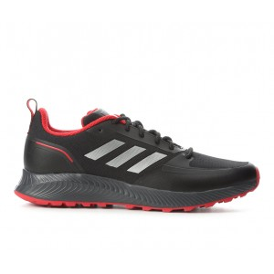 Men's Adidas Run Falcon 2.0 TR Trail Running Shoes Blk/Sil/Red/Gry Going Out VZWRE810