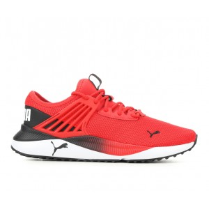 Men's Puma Pacer Future Running Shoes Red/White Business Casual UG6U43604