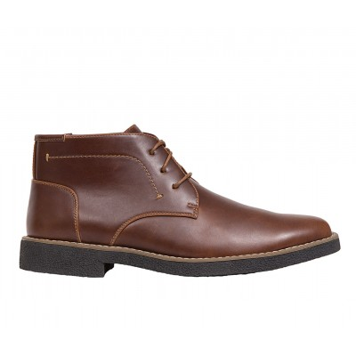 Men's Deer Stags Bangor Chukka Boots Redwood/Dk Brwn Business Casual Recommendations C4YAW8772