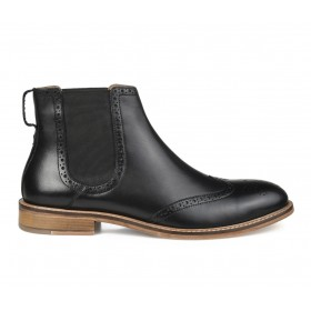 Men's Thomas & Vine Watson Chelsea Boots Black Going Out The Best Brand XPRKE1794