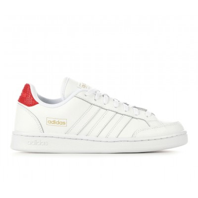 Women's Adidas Grand Court Special Edition Sneakers White/Scarlet Fashion NCTMY3629