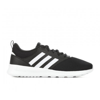 Women's Adidas QT Racer 2.0 Running Shoes Black/White/Gry Business Casual Collection WVUAY5673