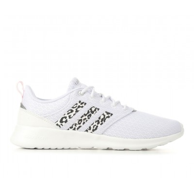 Women's Adidas QT Racer 2.0 Running Shoes White/Leopard 8QYJ16961