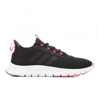 Women's Adidas Nario Move Primegreen Running Shoes Blk/Wht/Pnk Going Out On Line YEWZA1145