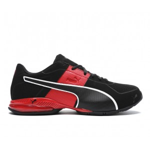 Men's Puma Cell Surin 2 Matte Sneakers Black/Red/White Business Casual Cut Off OEK8I3166