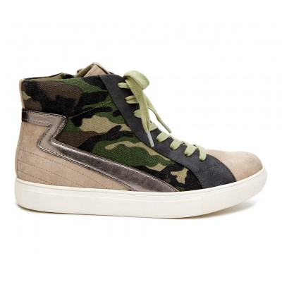 Women's Coconuts Matchmaker High-Top Sneakers Taupe Multi Business Casual Best BH47H5639