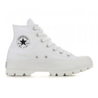 Women's Converse Chuck Taylor All Star Lugged Platform Sneakers White Mono Formal Clearance Sale LRIK84791