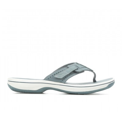 Women's Clarks Brinkley Reef Flip-Flops Blue/Grey Going Out hot topic SP23X2162