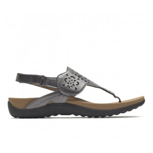 Women's Rockport Ridge Circle Sling Sandals Pewter Business Casual In Sale V2L2F1630