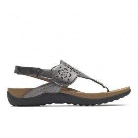 Women's Rockport Ridge Circle Sling Sandals Pewter Going Out New Style 4V2RC9019