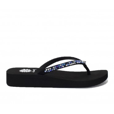 Women's Yellow Box Jello Flip-Flops Navy Multi Going Out Clearance L9GLX7127