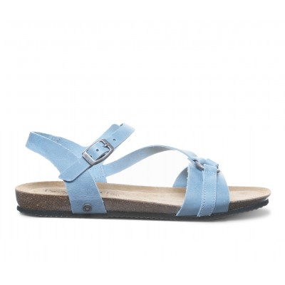 Women's Bearpaw Sandy Footbed Sandals Blue Going Out Trending UI4ZI1446