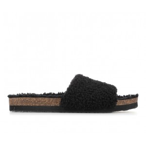 Women's Makalu Luna Cozy Footbed Sandals Black Going Out Trends 2021 XXMQ59241