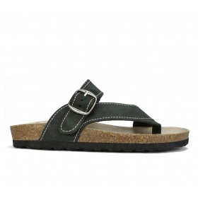 Women's White Mountain Carly Footbed Sandals Black Nub Formal on clearance W0ODS5858