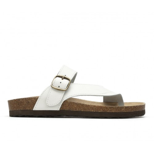 Women's White Mountain Carly Footbed Sandals White Smooth Formal S9YI43074