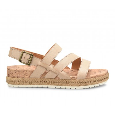 Women's B.O.C. Harper Flatform Sandals Cream Going Out on clearance QCAXD3564