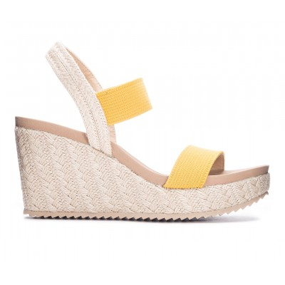 Women's CL By Laundry Kaylin Wedge Sandals Yellow Business Casual V0QOO4960