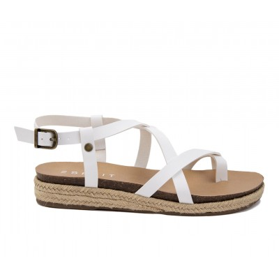 Women's Esprit Judy Espadrille Wedge Sandals Off White Going Out Selling Well GWEBV8598