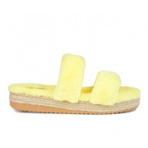 Women's Journee Collection Relaxx Cozy Sandals Yellow Business Casual high quality LK1RH9890