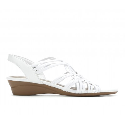 Women's Impo Raleigh Wedge Sandals White Business Casual SLZGN4207