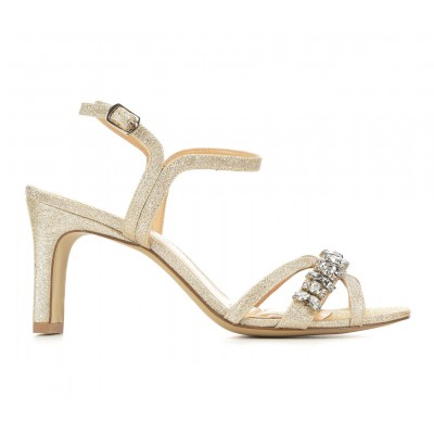 Women's American Glamour BadgleyM Quincie Special Occasion Shoes Lt Gold Going Out ZN8Z8518
