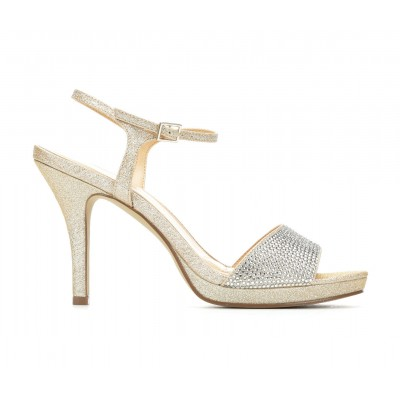 Women's American Glamour BadgleyM Yasmin Special Occasion Shoes Light Gold Business Casual for sale near me JIKC63780