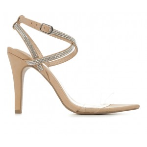 Women's Delicious Cypre Special Occasion Heels Dk Nude Formal in new look YG2QY6194