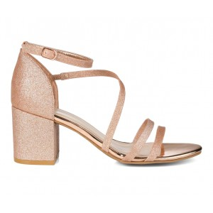 Women's Journee Collection Bella Special Occasion Shoes Rose Gold in style J569E6777