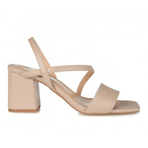Women's Journee Collection Lirryc Dress Sandals Beige Formal New Style O7J6T6218