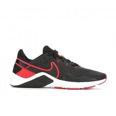 Men's Nike Legend Essential 2 Training Shoes Black/Red/White Formal FIVH66900