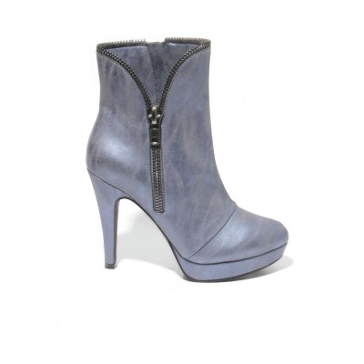 Women's 2 LIPS TOO Too Shadie Stiletto Booties Blue Going Out boutique ZKNDM9158