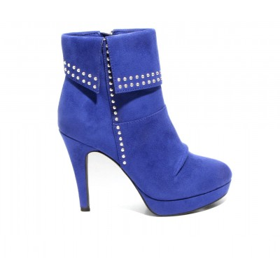 Women's 2 LIPS TOO Too Shaker Stiletto Booties Blue Going Out New 9HB6M2195