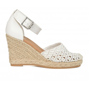 Women's Journee Collection Sierra Espadrille Wedges White Formal Near Me TCEX44662