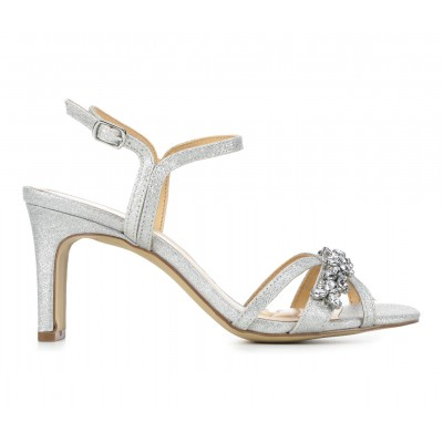 Women's American Glamour BadgleyM Quincie Special Occasion Shoes Silver Going Out spring 2021 EKLSI1653