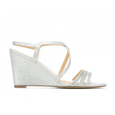 Women's American Glamour BadgleyM Yori Special Occasion Shoes Silver Going Out Design O45OZ3699