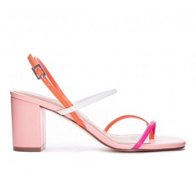 Women's Chinese Laundry Yanna Dress Sandals Orange/Hot Pink Business Casual New Look LIL2B6380