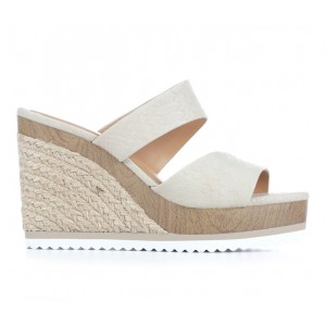 Women's Y-Not Luxe Wedge Sandals Beige Python Business Casual Top Sale BR7611202