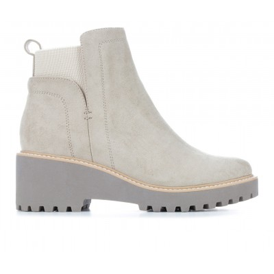 Women's DV BY DOLCE VITA Rielle Wedge Chelsea Boot Stone Formal Fit 7OGIG8214