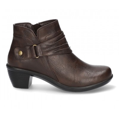 Women's Easy Street Damita Booties Brown Business Casual Recommendations JM8P38364
