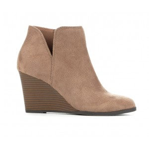 Women's Soda Ability Booties Warm Taupe Formal OVEMY4613