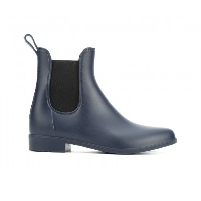 Women's Capelli New York Matte Opaque Chelsea Rain Boots Navy Number 1 Selling GZCON4534
