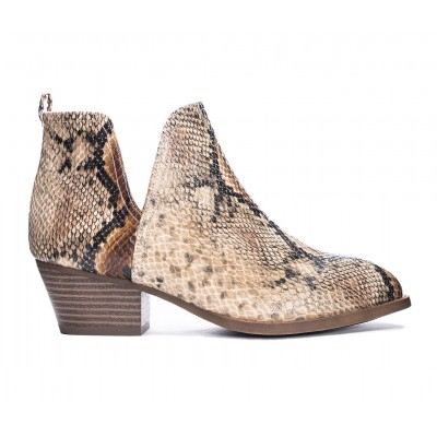 Women's CL By Laundry Cherish Booties Natural Snake Formal QVX864158